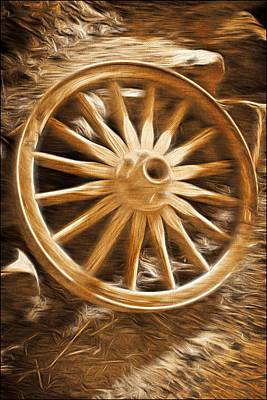 Mixed Media - Wheels West by Aaron Berg