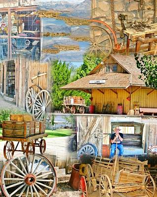 Photograph - Old West Collage by Marilyn Diaz