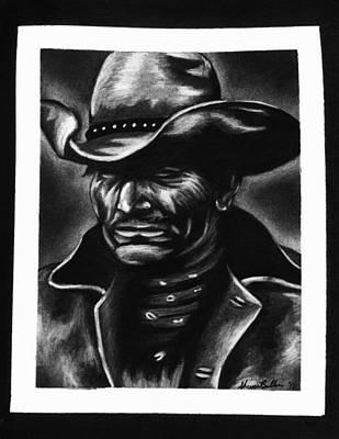 Old West Cowboy Art Print by Sheena Pape