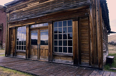 Old West Saloon During A Rain Storm Print by Daniel Hagerman