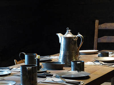 Photograph - Old West Table Setting by Marcia Socolik