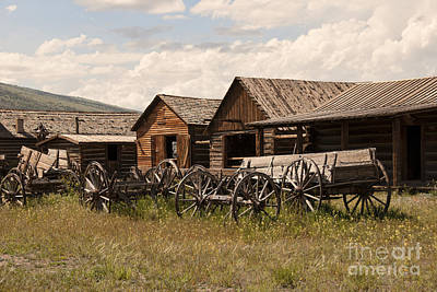 Old Log Cabin Photograph - Old West Wyoming  by Juli Scalzi
