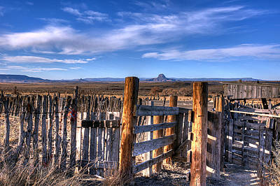 Old Western Corral Art Print