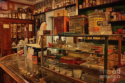 Old Western General Store Counter Art Print by Janice Rae Pariza