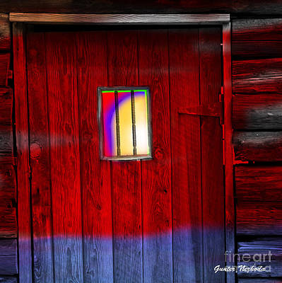Photograph - Old Western Jailhouse Door by Gunter Nezhoda
