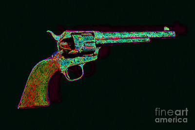 Old Western Pistol - 20130121 - V1 Art Print by Wingsdomain Art and Photography