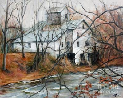 Old Wf Mill Art Print by Linda Hall