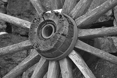 Photograph - Old Wheel by Trish Tritz