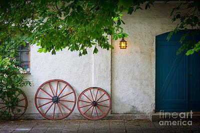 Sverige Photograph - Old Wheels by Inge Johnsson
