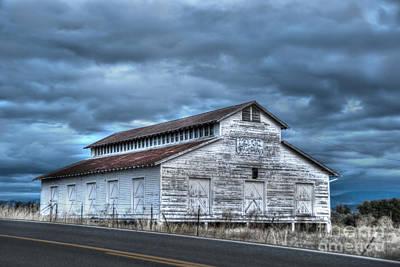 Old White Barn Art Print by Juli Scalzi