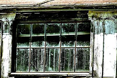 Photograph - Old Whitewash And Dirty Windows by Bob Wall