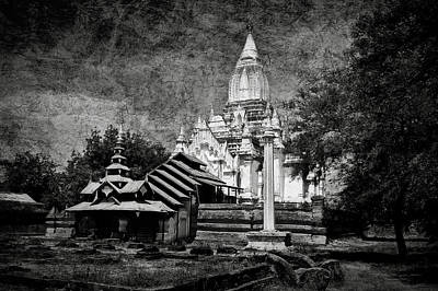 Photograph - Old Whitewashed Lemyethna Temple Bw by RicardMN Photography
