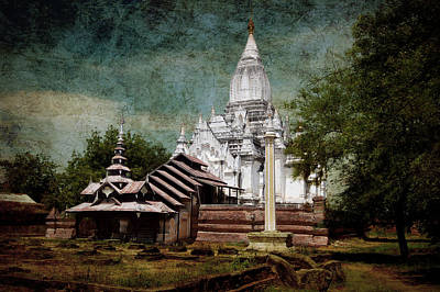 Old Whitewashed Lemyethna Temple Art Print by RicardMN Photography