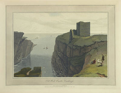 In The Round Photograph - Old Wick Castle In Caithness by British Library