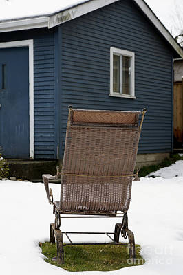 Photograph - Old Wicker Chair  by John  Mitchell