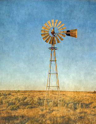 Photograph - Old Windmill by Angie Vogel