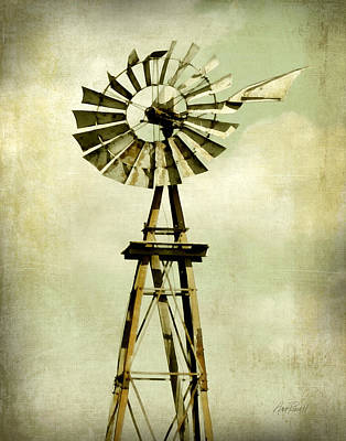Digital Art - Old Windmill  by Ann Powell