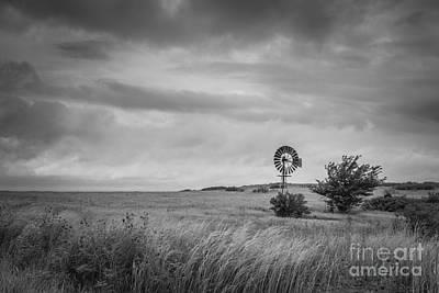 Old Windmill Bw Original