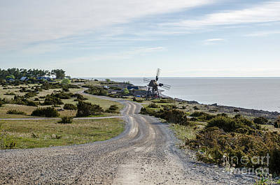Photograph - Old Windmill By The Coast Road by Kennerth and Birgitta Kullman