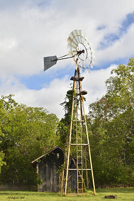 Photograph - Old Windmill Catches A Breeze by Allen Sheffield