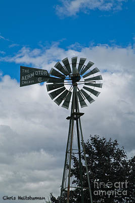 Photograph - Old Windmill by Chris Heitstuman