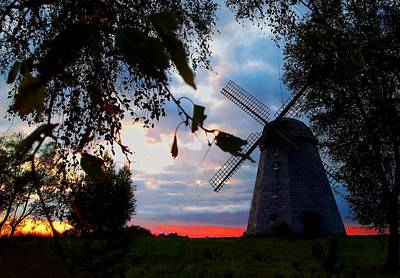 Photograph - Old Windmill In The Evening by Juozas Mazonas