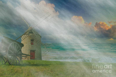 Photograph - Old Windmill - Landscape by Liane Wright