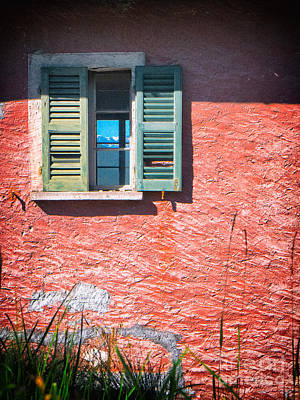 Print featuring the photograph Old Window With Reflection by Silvia Ganora
