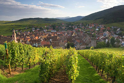 Alsace Photograph - Old Wine Town Of Riquewihr by Peter Adams