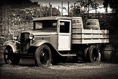 Photograph - Old Wine Truck Malibu by Rollie Robles