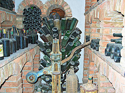 Winemaking Digital Art - Old Winemaking Stuff In Castello Di Amorosa In Napa Valley-ca by Ruth Hager
