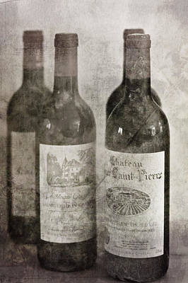 Table Wine Photograph - Old Wines by Georgia Fowler