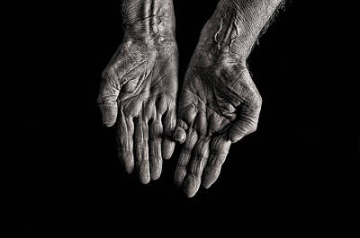 Incapacitated Photograph - Old Womans Hands by Doc Braham