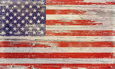 Old Wood American Glory Art Print by Sharon Marcella Marston