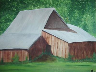 Painting - Old Wood Barn by Melanie Blankenship
