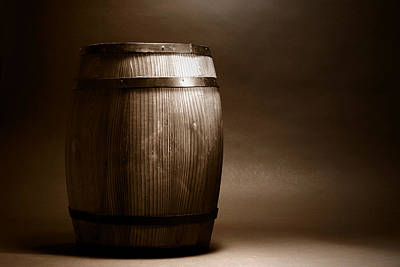 Old Wood Barrel Art Print by Olivier Le Queinec