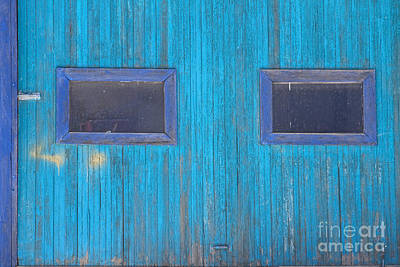 Photograph - Old Wood Blue Garage Door by James BO Insogna