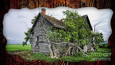 Mixed Media - Old Wood House by Marvin Blaine