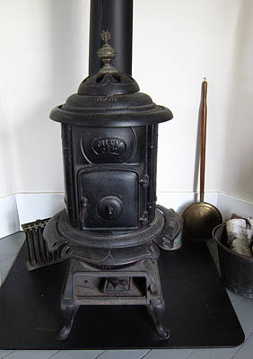 Antique Wood Burning Stove Photograph - Old Wood Stove by Mary Bedy