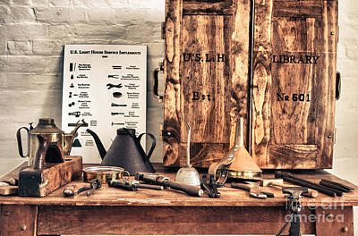 Old  Wood Workbench Art Print