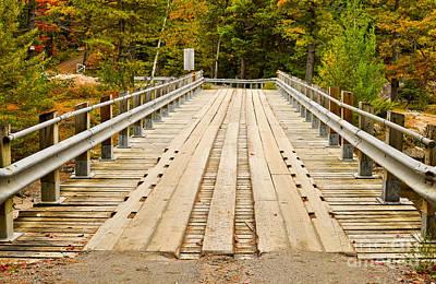 Photograph - Old Wooden Bridge by Les Palenik