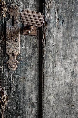 Weather Beaten Photograph - Old Wooden Door by Marco Oliveira