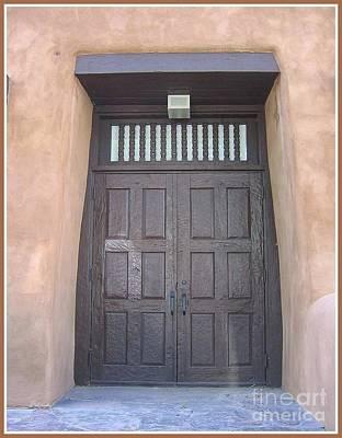 Old Spanish Style Door - New Mexico Original by Dora Sofia Caputo Photographic Art and Design
