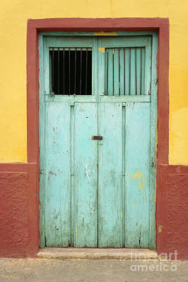 Photograph - Old Wooden Door Santa Elena Mexico by John  Mitchell