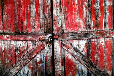 Antique Maps - Old Wooden Doors by Lane Erickson