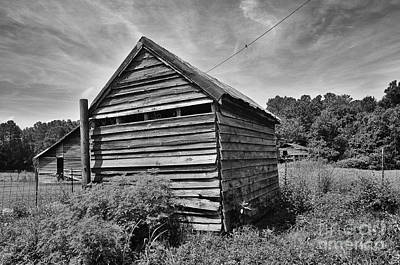 Photograph - Old Farm Buildings In A Rural South Carolina Field - David Perry Lawrence by David Perry Lawrence