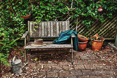 Fruits And Vegetables Still Life - Old wooden garden bench  by Sheila Smart Fine Art Photography