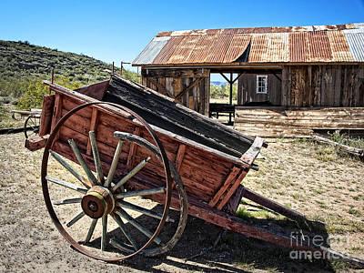 Old Wooden Lumber Cart Art Print