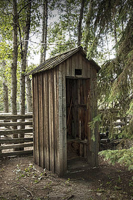 Old Wooden Outhouse At Fort Edmonton Art Print