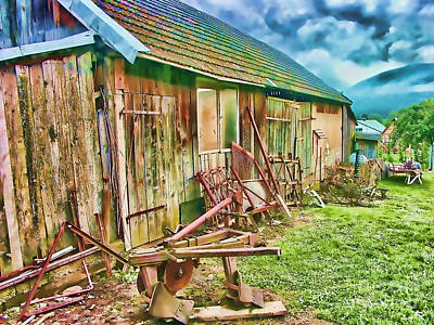 Shed Digital Art - Old Wooden Shed by Roman Milert